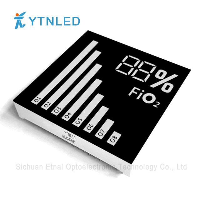 Customized led display ELC-5301S,O,Y,G,GG,B,W