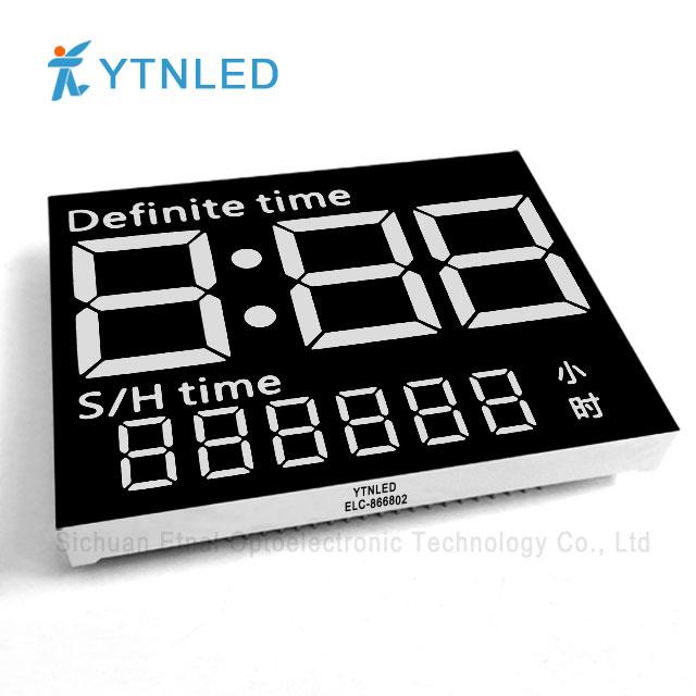 Customized led display ELC-866802S,O,Y,G,GG,B,W