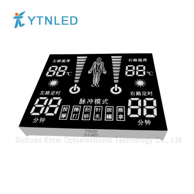 Customized led display ELC-9872S,O,Y,G,GG,B,W