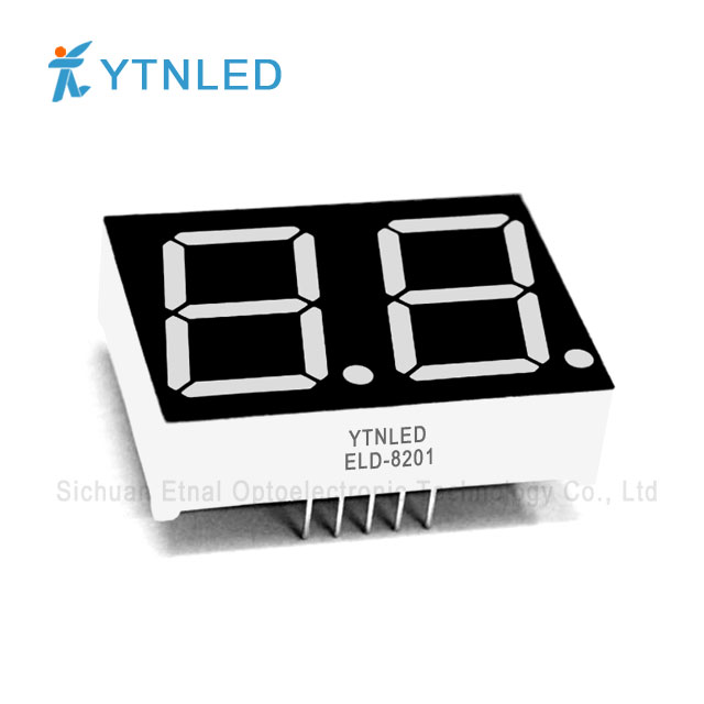 0.8inch Dual digit led display Common Cathode Anode Red Orang
