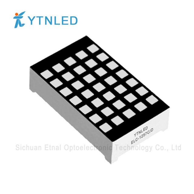 1.2inch 3mm 5X7 Dot Matrix led display Common Cathode Anode R
