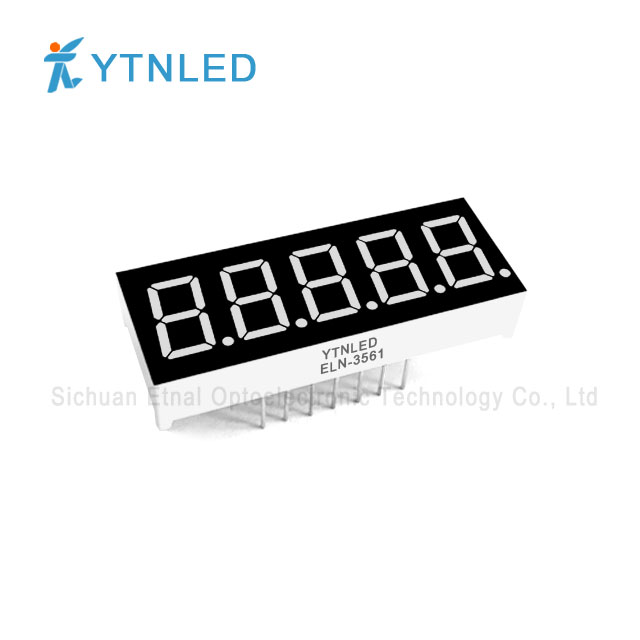 0.36inch Five digit led display Common Cathode Anode Red Oran