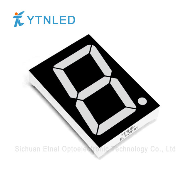 2.3inch Single digit led display Common Cathode Anode Red Ora