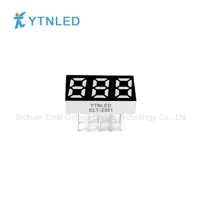 0.25inch Three digit led display Common Cathode Anode Red Ora