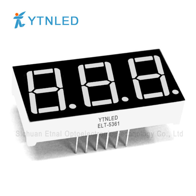 0.56inch Three digit led display Common Cathode Anode Red Ora